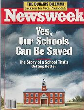 MAY 2 1988 - NEWSWEEK magazine (UNREAD - NO LABEL) - SCHOOLS CAN BE SAVED