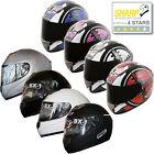 BOX BX-1 Full Face Scooter Motorbike Helmet Motorcycle Plain Scope SHARP 4 STAR