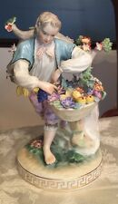 Beautiful Antique German Dresden Porcelain Putti Carl Thieme Flower Figurine
