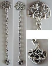 Chaine giletière chatelaine en argent massif ART NOUVEAU Jugendstil silver chain