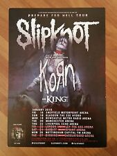 "SLIPKNOT / KORN: 2015 PREPARE FOR HELL UK Tour Flyer, 5.12x8.2"", Collectible"