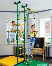Indoor Sport Playground Gym for Kids with Gymnastic Rings, Rope, Ladder, Trapeze