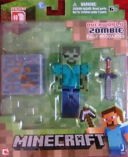 Minecraft 3-Inch Core Character Action Figure Wave 2-Zombie-Brand New-BNIB