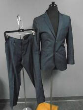 TOPMAN Dark Blue Wool Lined Two Button Skinny Pant Suit Size 38/30RCC1777