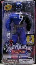 "Power Rangers SPD BLUE 12"" Ranger Talking Original New Factory Sealed  2004"