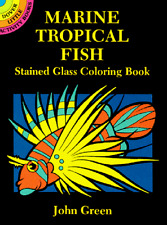 Art Drawing Adult Coloring Book Marine Tropical Fish Inspiration Relaxing Kids