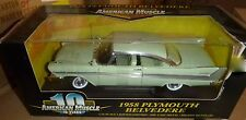1/18 1958 PLYMOUTH BELVEDERE ERTL Diecast AMERICAN MUSCLE