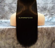 18'' BROWN FLIP IN SECRET CLEAR WIRE HUMAN HAIR BLEND EXTENSIONS NO CLIP ON/IN