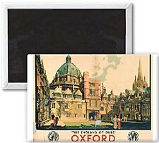This England of Ours Oxford (old rail ad.) fridge magnet   (se)