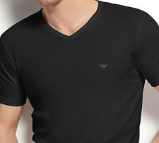 Armani Men's Emporio Armani Cotton Chest Logo V neck Tee - M