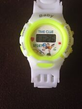 Soft Strap Kids Digital Bright Yellow Wrist Watch With Date And Tine UK seller