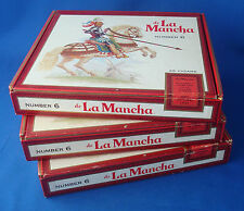 vintage cigar box set of 3 Candela number 6 de La Mancha 7½x7x1¼""