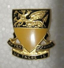 """US Army 249th Tank Battalion DUI """"After Us There Is Nothing"""" D2"""