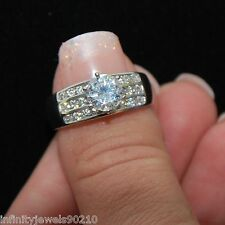 2.03 cts Real 14K solid Gold round Brilliant cut Solitaire Engagement ring sz 10