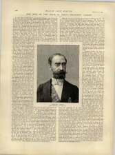 1892 Man Of The Hour President Carnot