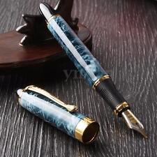 Jinhao X450 Azul Mármol Pluma Estilográfica Plumilla Mediana Regalo Fountain Pen