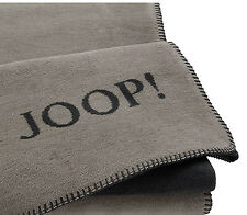 JOOP ! Uni-Doubleface Wohndecke  (150x200 cm) Farbe: Taupe-Anthrazit