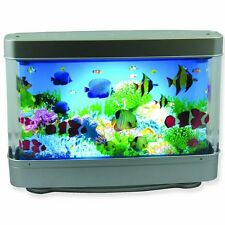Ocean In Motion Fish Table Aquatic Scene Aquarium Night Light Fish Lamp Tropical
