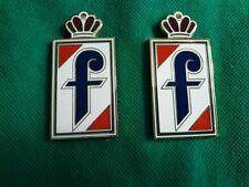 pininfarina f fender emblem 2pcs metal new alfa fiat peugeot 406 coupe
