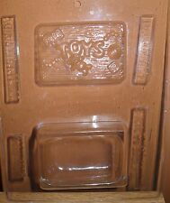 Plastic Chocolate Candy Mold 3D Toy Box with Lid Wood Look BN5