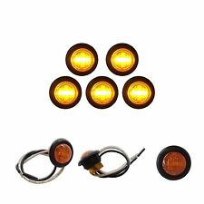 "5 3/4"" AMBER LED CLEARANCE MARKERS BULLET TRUCK TRAILER MARKER LIGHTS BARE WIRES"