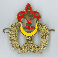 SCOUTS OF MALAYSIA - MALAYSIAN SCOUT Metal Plume / Hat Patch