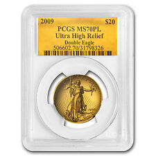 2009 Ultra High Relief Double Eagle MS-70 PL PCGS (Gold Foil) - SKU #62444