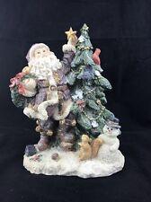 GLITTERY SANTA DECORATING CHRISTMAS TREE TABLE CHRISTMAS TREE DECORATION #120