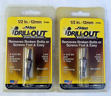"""ALDEN 2PC 1/2"""" (12MM) DRILL-OUT BROKEN DAMAGED BOLT SCREW EXTRACTOR 5007P P500"""