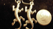 bling sterling silver plated pagan druid gothic celtic lizard ear ring hip hop