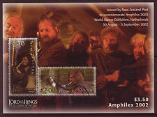 NEW ZEALAND 2002 AMPHILEX, LORD OF THE RINGS MINIATURE SHEET UNMOUNTED MINT