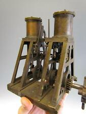 *RARE* ANTIQUE BRASS DOUBLE STEAM ENGINE signed THOMAS W.MASON, PHILADELPHIA #60