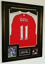 ** NEW MESUT OZIL of Arsenal Signed Shirt Display **  AFTAL DEALER CERTIFICATE