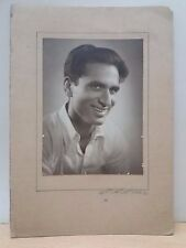 INDIAN VINTAGE CABINET PHOTOGRAPH - INDIAN MAN / YEAR- 1960