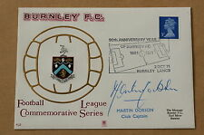 BURNLEY FOOTBALL LEAGUE COMMEMORATIVE SERIES 1971 COVER SIGNED BY MARTIN DOBSON
