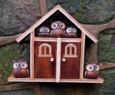 Super Cute Owl House Key Box Key Holder With 2 doors fair trade hand painted