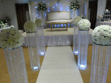 "36"" (3 FEET) IRIDESCENT WEDDING DECORATION CRYSTAL PILLARS"
