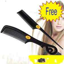 Hot 2 piece Hair Styling Comb Set Professional Black Hairdressing Brush Barbers