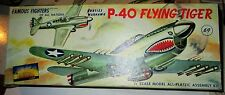 RARE SILVER AURORA P-40 [1955?] CURTISS WARHAWK/FLYING TIGER 1/48 W BONUS