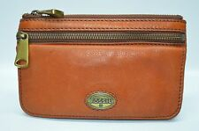 Fossil Explorer Classic Multi function Zip Flap Clutch Wallet Organizer Saddle