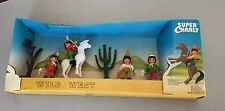 VINTAGE #Super Charly Dulcop Mint In Box Mib Wild West Indiani  Playset#NIB