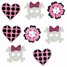 Jesse James Dress It Up Buttons Girl Punk Skulls #5813 Flat Rate Shipping