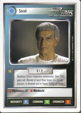 STAR TREK CCG WHITE BORDER PREMIERE 1995 BETA RARE CARD SAREK