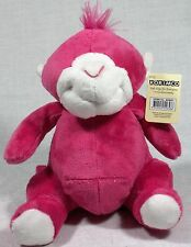 1 x Bright Pink Fluffy Monkey Korimco 9312552556586 51-6243V.MONK Jungle Friends