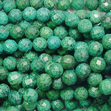 CHRYSOCOLLA JASPER 10MM FACETED ROUND GEMSTONE BEADS
