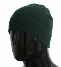 NWT $200 DOLCE & GABBANA Hat Green Cashmere Mens Beanie Winter Head s. One Size