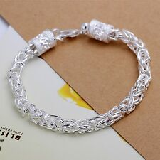 Wholesale 925Sterling Solid Silver Men Jewelry Dragon Bracelet For Women H096
