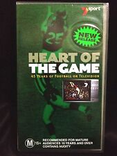 HEART OF THE GAME ~45 YEARS OF FOOTBALL ON TELEVISION TV ~ AFL ~ VHS VIDEO