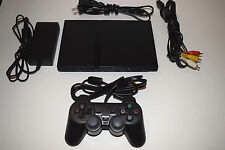 Black Sony Playstation 2 PS2 Slim Console System Complete SCPH-70012