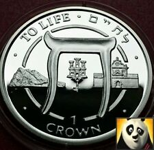 1996 SCARCE GIBRALTAR 1 One Crown TO LIFE Silver Proof Coin
